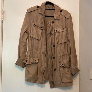 NWOT Free People Khaki Utility Jacket Small